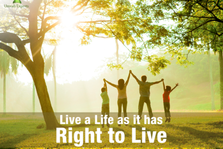 Live a life as it has right to live