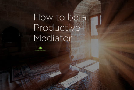 How to be a Productive Mediator